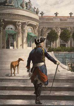 Georg Schöbel - Friedrich d.Gr.in Sanssouci / n.Schöbel