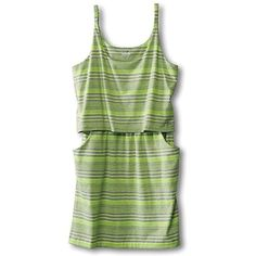Kavu Women's Coco Dress ($31) ❤ liked on Polyvore featuring dresses, highlighter, green dress, green color dress, kavu dress, kavu and mid thigh dress