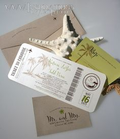 Hey, I found this really awesome Etsy listing at https://www.etsy.com/au/listing/169582865/boarding-pass-wedding-invitations