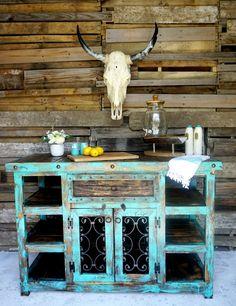 Indigo Rustic Island| Sofia's Rustic Furniture