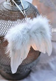 I love these tiny angel wings