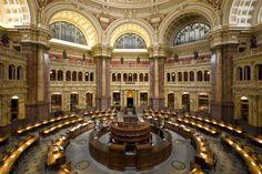Library of Congress, Washington, DC. This National Library of the United States and is the oldest federal agency in the U.S. (1800). Library is located in three buildings, is the largest library in the world in the number of shelves and number of books (22.19 million).