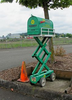 2011-05-14  An Athletic Mailbox by Mary Wardell, via Flickr