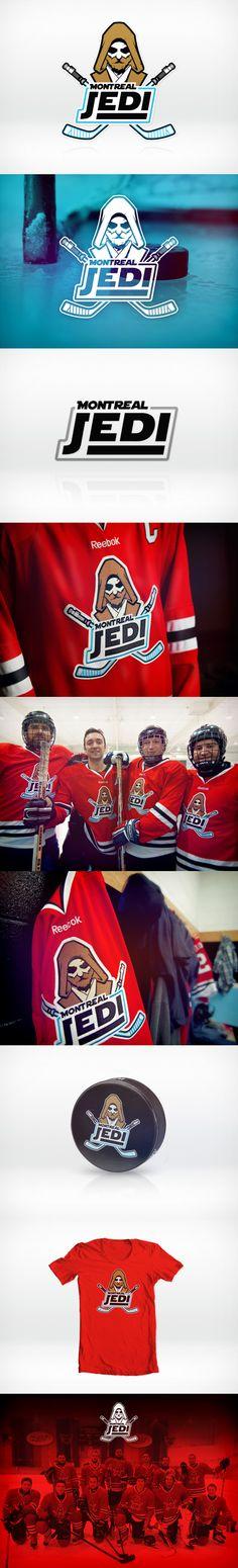 "Logo design for ""Montreal Jedi"" Hockey team by Baboon Creation (via Creattica)"