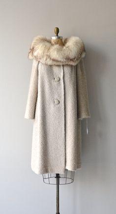 Odessa boucle coat 1960s fox fur collar coat by DearGolden