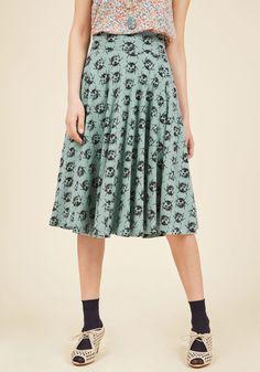 Effie's Heart Easy Peasy, Livin' Breezy Midi Skirt in Ladybugs