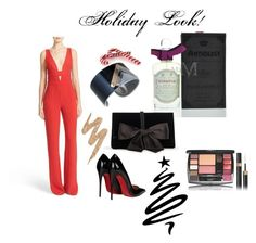 """""""Holiday Party"""" by maxaroma ❤ liked on Polyvore featuring Diane Von Furstenberg, Christian Louboutin, PENHALIGON'S, Ann Taylor, Urban Decay, Trendy, reddress, holidays, holidaylook and MaxAroma"""