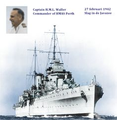 Colorized ppc HMAS Perth participant during the Battle of the Javasea Royal Australian Navy, Dutch East Indies, Naval History, Navy Ships, Royal Navy, War Machine, Battleship, World War Two, British Royals