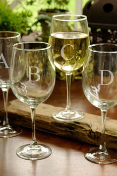 Personalized, White Wine Glasses Set | HauteLook
