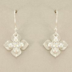 Holly Yashi Crystal Cross Earrings - Silver