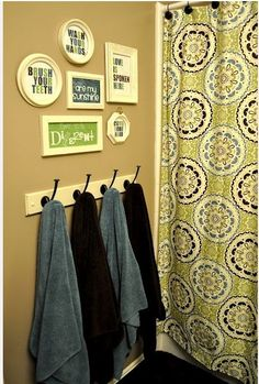 Use a coat rack instead of towel bar. Store more.