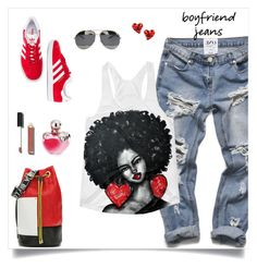 """my boyfriend jean"" by tato-eleni ❤ liked on Polyvore featuring Péro, adidas Originals, Christian Dior, Chanel, Nina Ricci and Vivienne Westwood"