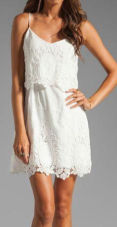 White thin strap summer mini dress