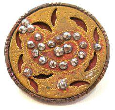 Victorian brass Paisley button.