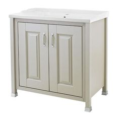 Old London - 800 Traditional 2-Door Basin & Cabinet - Stone Grey - LDF405