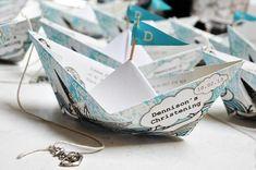 Кораблики оригами для украшения свадебных столов