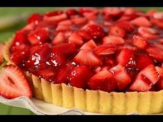 Strawberry Pie Recipe Demonstration - Joyofbaking.com