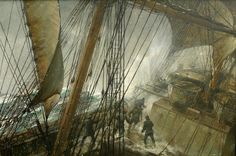 "Montague Dawson (1895-1973), ""Rounding Cape Horn"" (1959 circa) - Google Search"