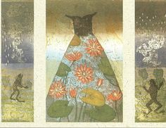 "Kirsi Neuvonen: ""Lummepuku (Waterlily Dress)"", 2001 (line etching, aquatint, copy etching)"