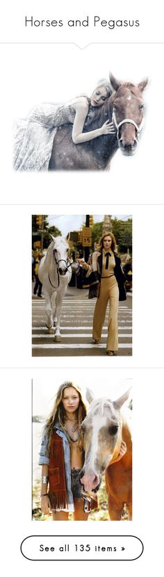 """Horses and Pegasus"" by mimi1207 ❤ liked on Polyvore featuring people, editorials, raquel zimmermann, horses, animals, backgrounds, photo, tube, filler and home"