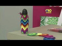 Vida com Arte | Capa para garrafa em crochê colorido por Cris Vasconcell...