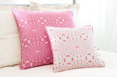 Optic Pink Decorative Pillow