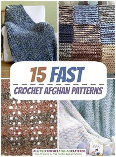 15 Fast Crochet Afghan Patterns | AllFreeCrochetAfghanPatterns.com