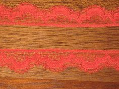 By the 3 Yards  Vintage 1/2 Red Lace Trim by by withmy2hands999, $0.35