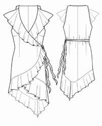 Image result for ruffles dress drawing