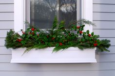 My holly bushes are just now starting to produce berries....I would love to put window boxes on the windows on outside the deck....but I am afraid the rain will collect and cause damage to our wood window frames....