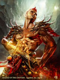Purified Ifrit (Advance) by elGuaricho on deviantART Graffiti, Pathfinder Character, Fantasy Male, Photoshop Cs5, Healthy Snacks For Kids, Fantasy Creatures, Mythical Creatures, Character Concept, Character Art