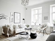I love the nordic boho feeling with natural materials and textures, with neutral color palette.I would add curtains, muted color and greenery.