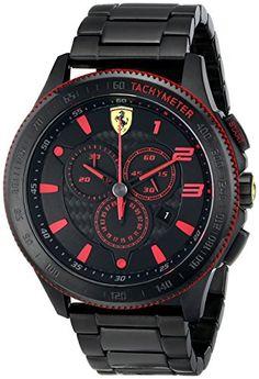 Ferrari Men's 0830142 Scuderia XX Analog-Display Quartz Black Watch - https://www.caraccessoriesonlinemarket.com/ferrari-mens-0830142-scuderia-xx-analog-display-quartz-black-watch/  #0830142, #AnalogDisplay, #Black, #Ferrari, #MenS, #Quartz, #Scuderia, #Watch #Enthusiast-Merchandise, #Ferrari