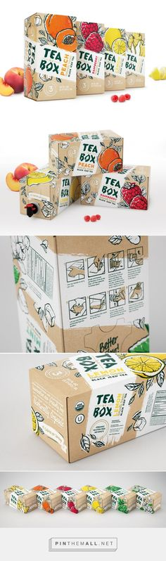 Tea In A Box – Packaging of the World – Creative Package Design Gallery – www.packagingofth… Tea In A Box – Packaging of t Fruit Packaging, Cool Packaging, Beverage Packaging, Coffee Packaging, Brand Packaging, Design Packaging, Product Packaging, Packaging Ideas, Medicine Packaging