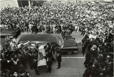 George Jackson's Coffin Is Brought Into St. Augustine's Church. Oakland 1971. Ph. Stephen Shames