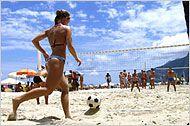 Rio de Janeiro Guia de Viagem - Hotéis, Restaurantes, Passeio, no Rio de Janeiro - New York Times de viagem  Take advantage of one of the city's sandy resources and play futevolei, a combination of soccer and volleyball, on Ipanema Beach.