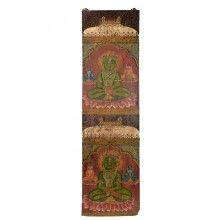 India schlankes Wandbild mit Buddha Motiven Kunstwerk Dekoration