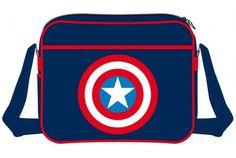 Sac à Bandoulière Bleu Shield Logo Captain America Logan, Captain America, Hi Gorgeous, Shield Logo, Marvel Dc, Geek Stuff, Backpacks, Comics, Tactical Clothing