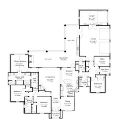 2631- 85 floor plan french country house plan.jpg 749×800 pixels