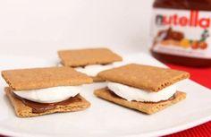 Chocolate Recipe-Nutella Smores #ChocolateRecipe #NutellaSmores