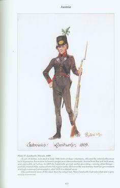 Austria: Plate 37. Landwehr, Private, 1809