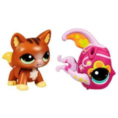 Littlest pet shop figures themed playset lazy for Swimming fish cat toy