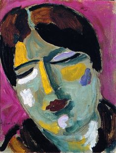 Jawlensky, Alexei - Mystical Head Dreaming Woman