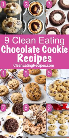 Clean Eating Chocolate Cookie Recipes. I love this selection! Pinning for later.