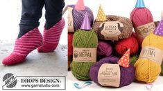 Úžasné papučky od DROPS Design: Kompletný podrobný návod! Nepal, Drops Design, Leg Warmers, Burlap, Reusable Tote Bags, Hessian Fabric, Jute, Canvas