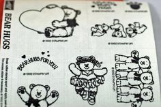 Retired 1992 Mint Stampin Up Stamps Bear Hugs by annswhimsey