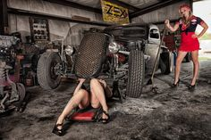 Rockabilly Pin Up / Rat Rod girls Rat Girl, Rat Rod Girls, Rockabilly Kids, Sweet Cars, Hot Rides, Us Cars, Big Trucks, Semi Trucks, Rat Rods