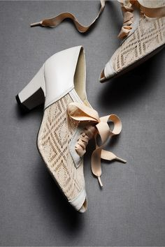Fabulous wedding day shoe. From Anthropologie wedding shop.