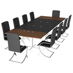 Holder Conference Table Root-Base Client Chairs Socket-Accessory - 06030701 3D Model Download | fbx obj max lxo lwo dae dxf - 3D Squirrel