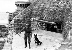 German coastal fortification; part of the Atlantic Wall, to protect against seaborne invasion.